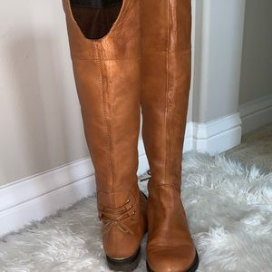 Steve Madden over the knee boots w/ detailed back